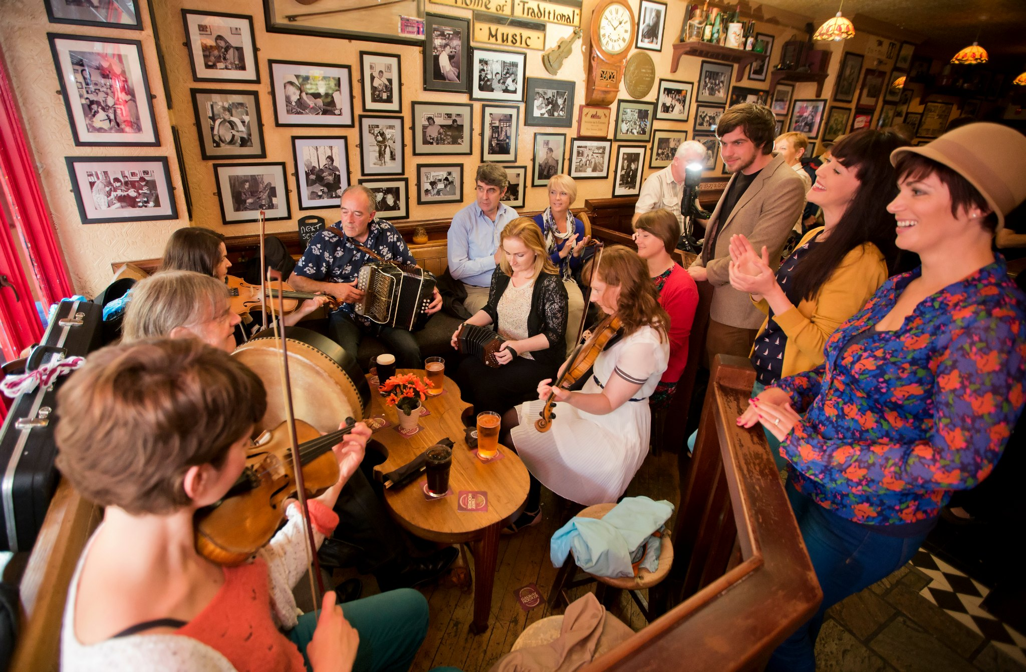 Traditional Irish Music Session in Galway Pubs Ireland
