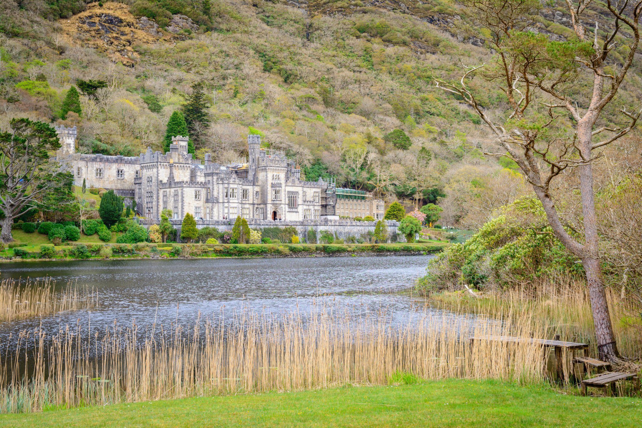 Visit Kylemore Abbey in Connemara one of many day trips that can be done from Galway City.