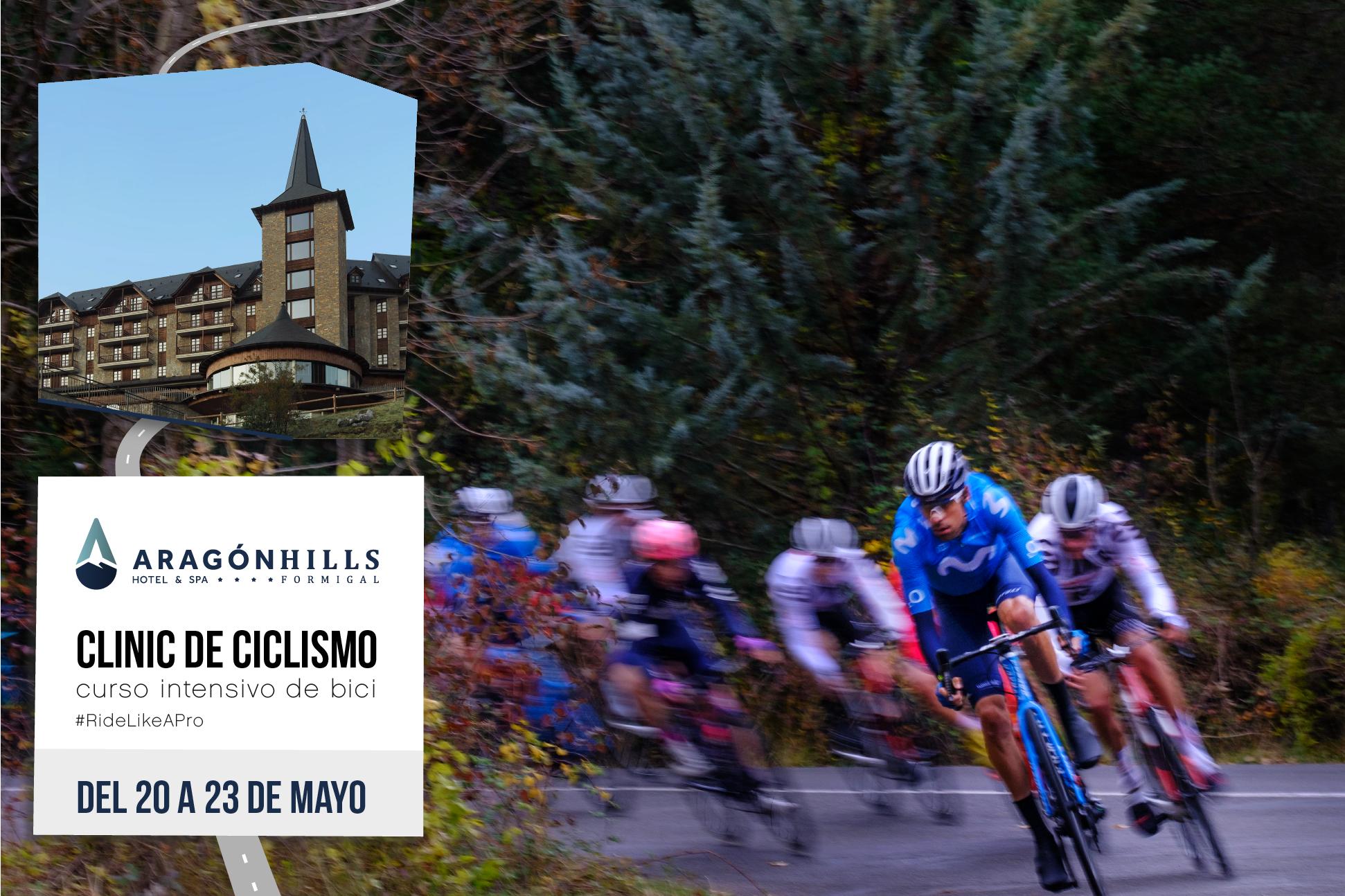 clinic de ciclismo en el Pirineo aragonés