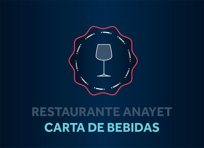 Restaurante Anayet, carta de bebidas