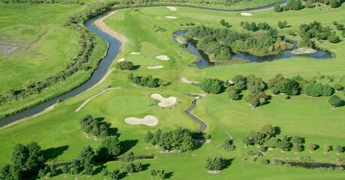 Aerial view of malahide golf course