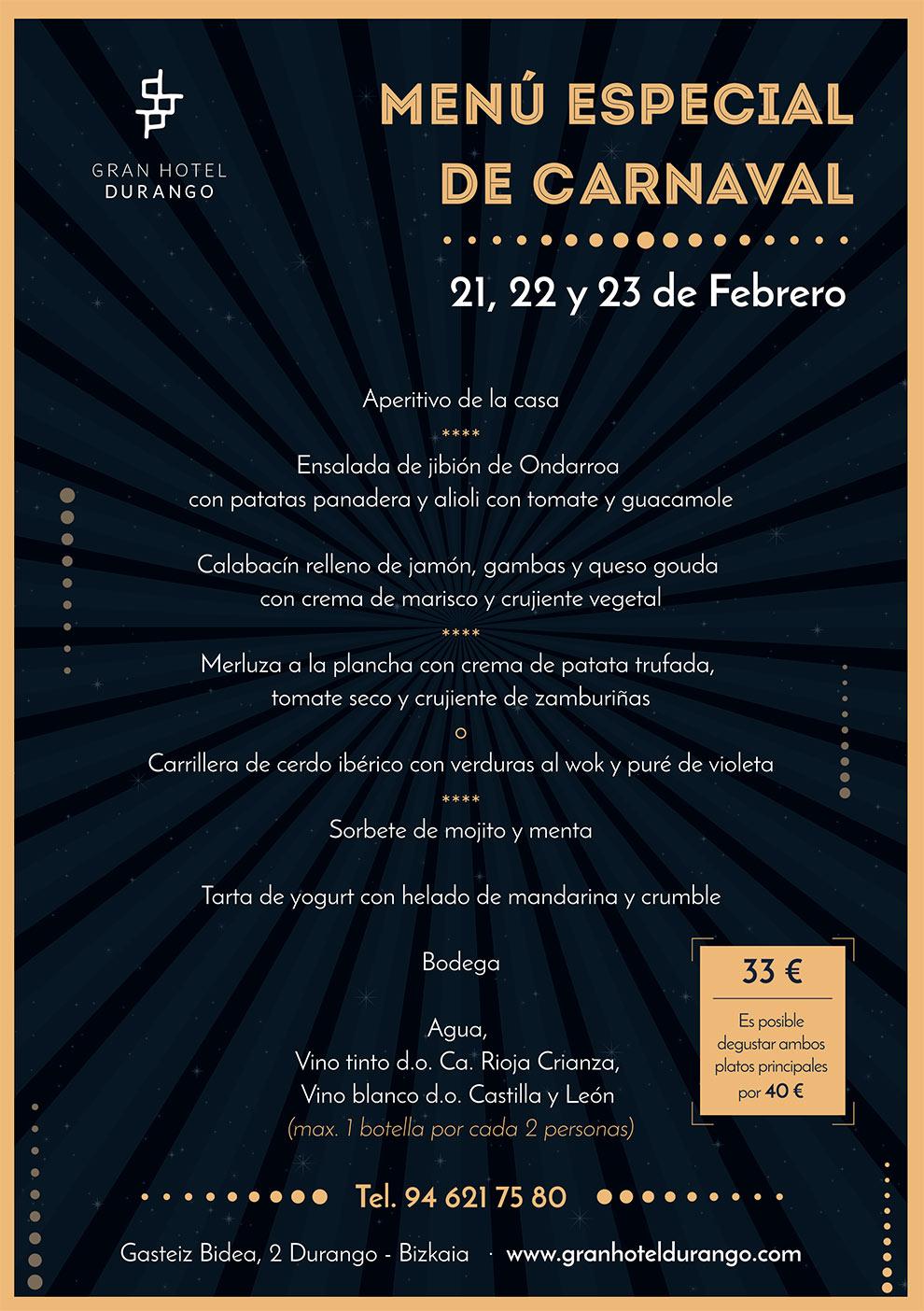menú carnavales 2020 en Durango, ven a nuestro restaurante a celebrar los Carnavales de Durango