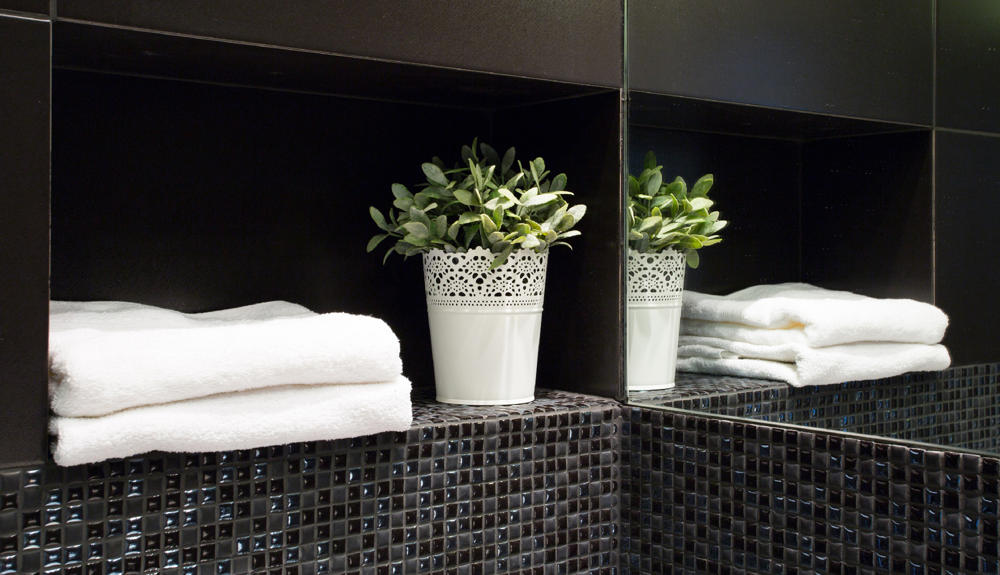 Fluffly Bath Towels in Residence Hotel Room's Bathrooms