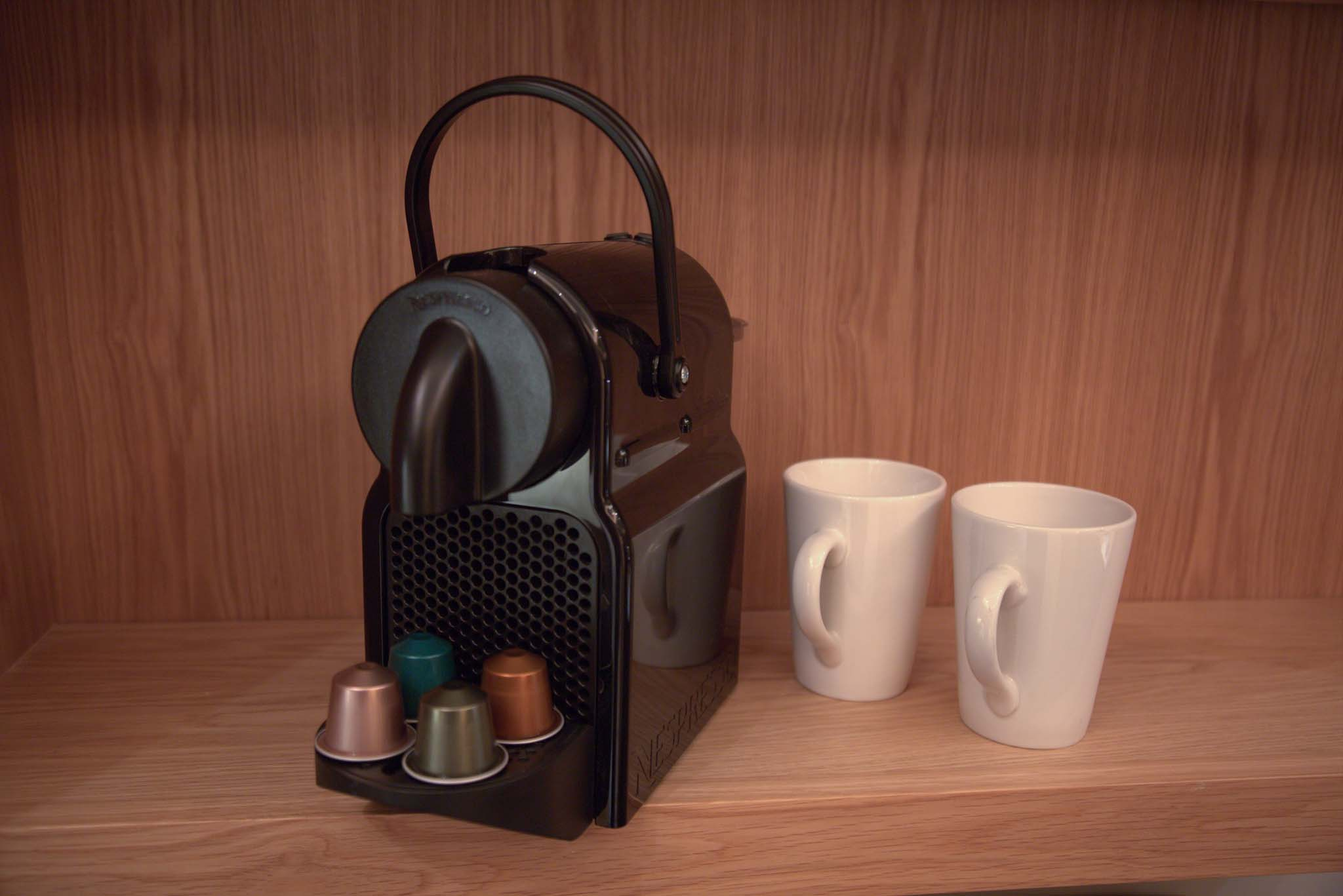 Nespresso Available in Residence Hotel Rooms, Galway