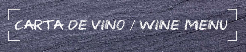 Carta de vinos