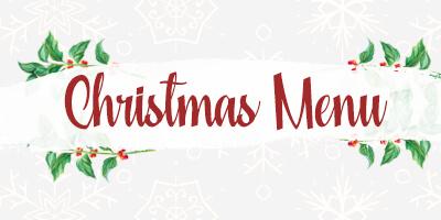 Christmas menu at the Mercantile